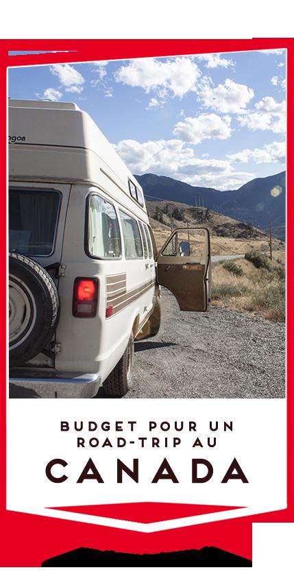budget pour un road-trip au canada