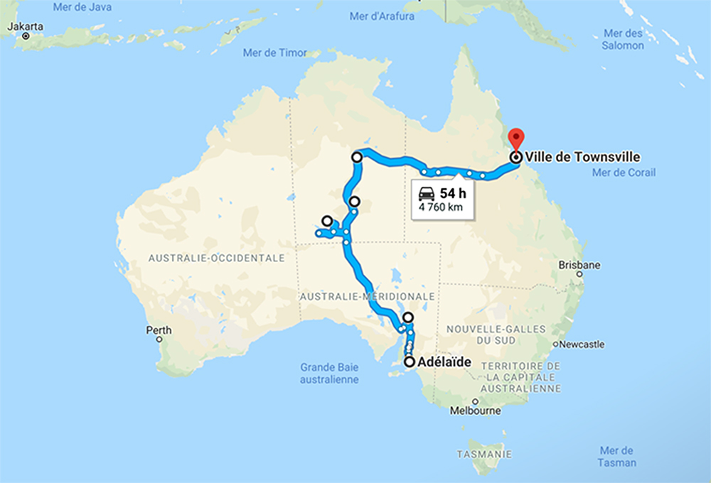 itineraire australie outback