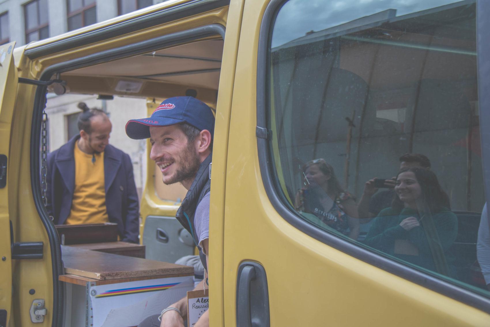 Alexandre, ex-Erasmus en van au service de la mobilité Européenne